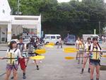 修学旅行カヤック体験プログラムの事前練習